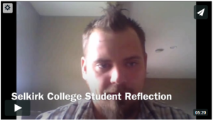 selkirk college student reflection