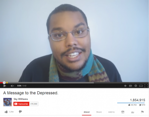 Video image a message to the depressed