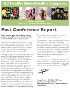 2009 Post Conference Report Photo