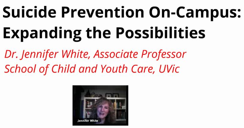 jennifer white suicide prevention on campus