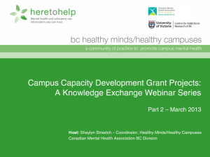 webinar campus capacity grants part 2