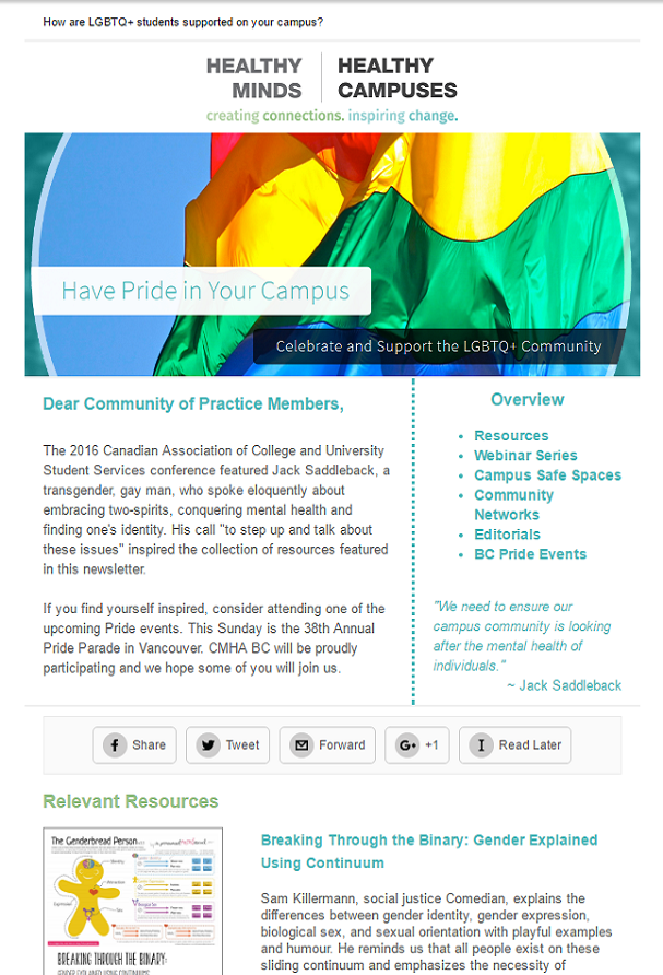 Celebrate and Support LGBTQ+ Students