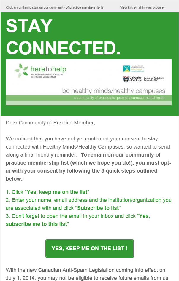 Reminder: Confirm your Membership