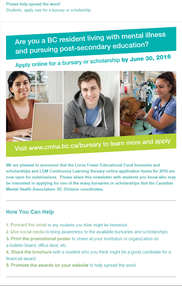 Bursaries and Scholarships