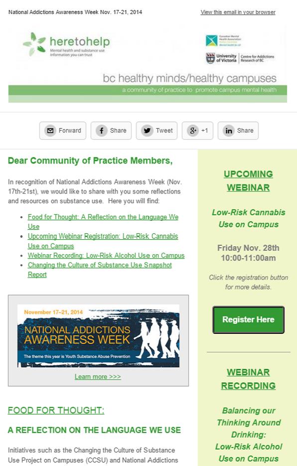 National Addictions Awareness Week