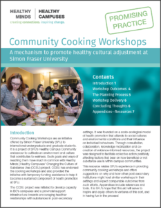 SFU Community Cooking Workshops Promising Practice