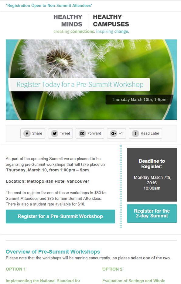 Pre-Summit Workshops