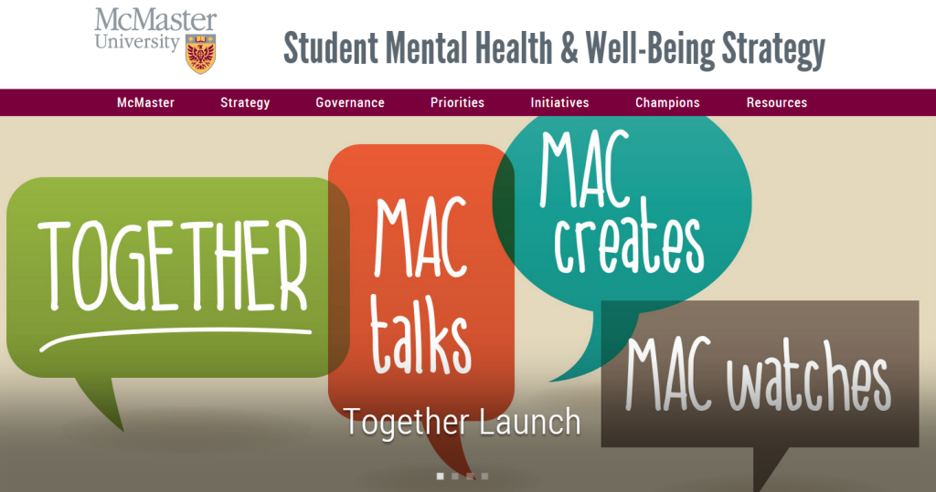 mcmaster student mh website
