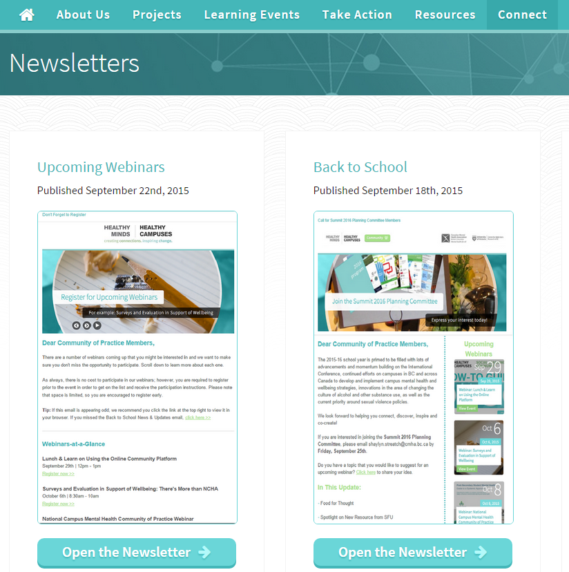 View All Community Newsletters