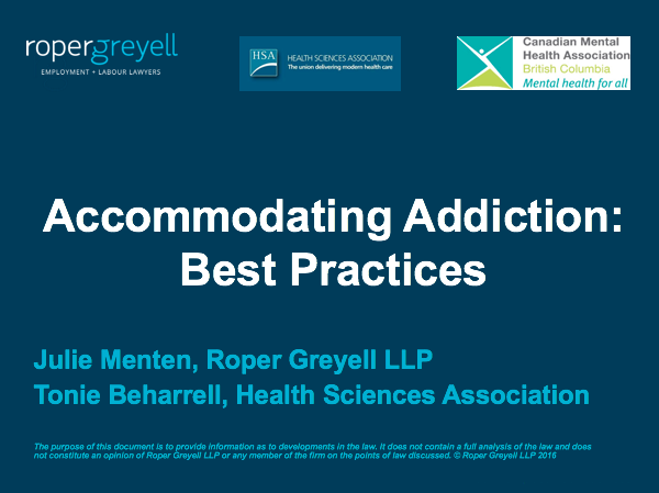 Accommodating Addiction