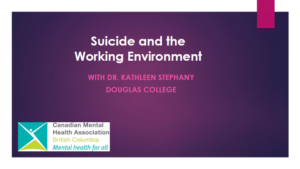 Suicide and the Working Environment