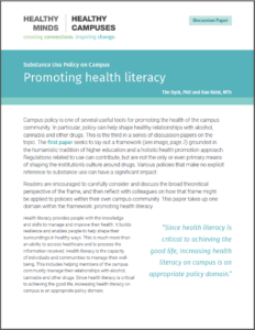 Promoting health literacy