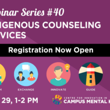 CICMH webinar - Indigenous Counselling