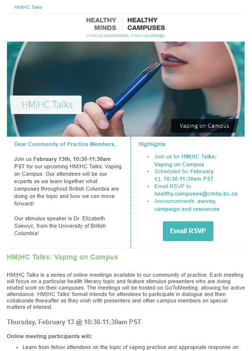 HM|HC Talks: Vaping on Campus