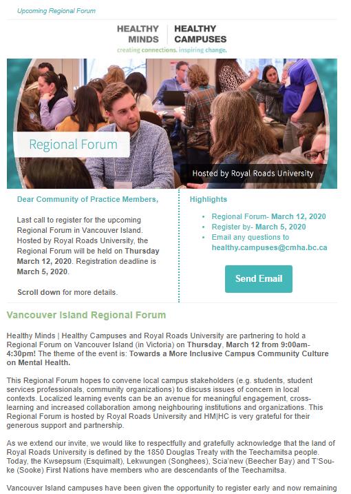 REMINDER: Regional Forum
