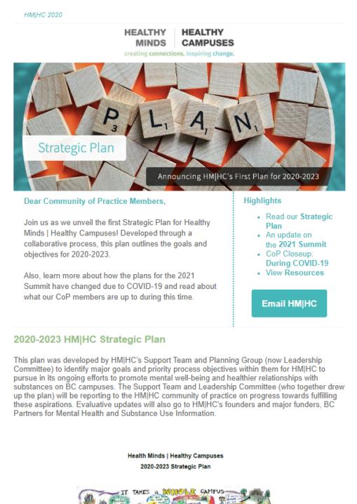 HM HC's First Strategic Plan