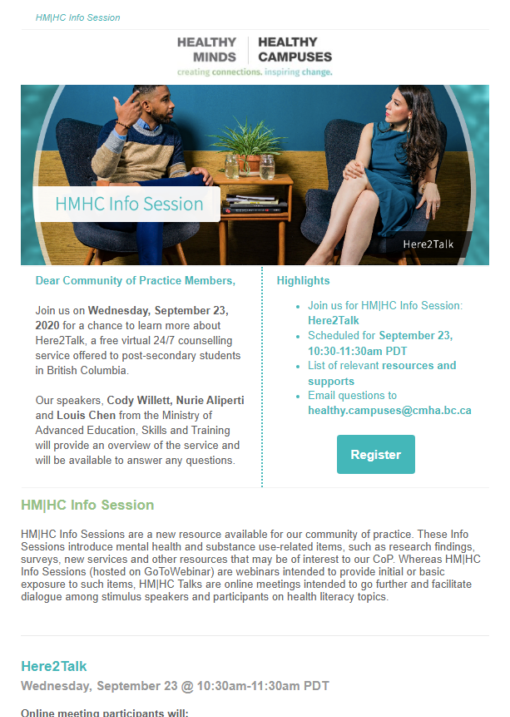 HM|HC Info Session: Here2Talk