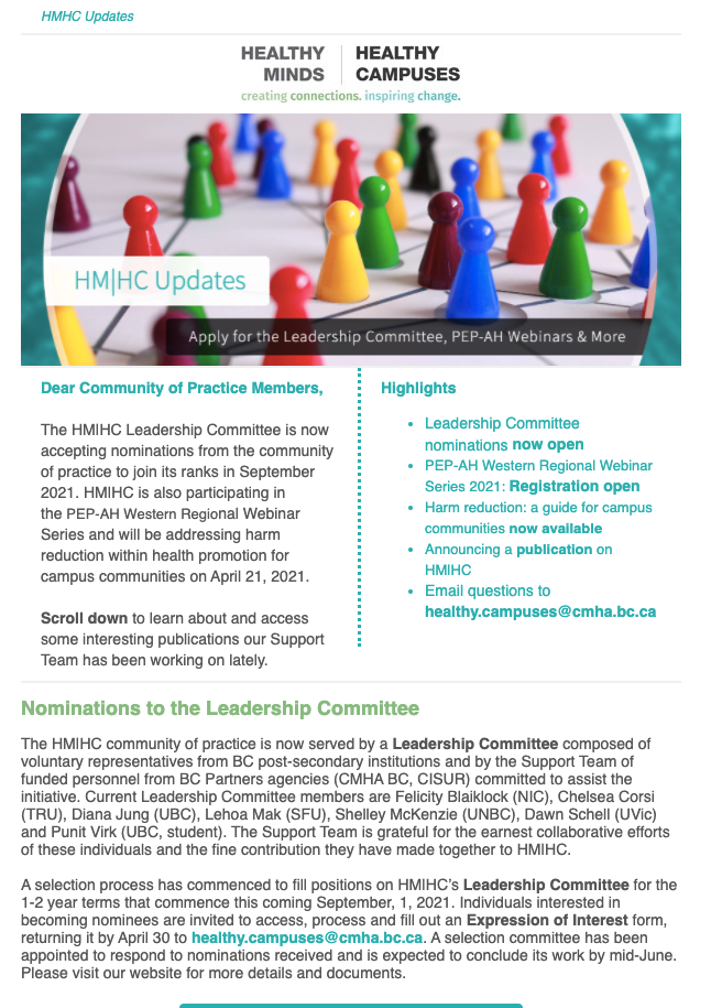 Join HM HC's Leadership Committee, Upcoming PEP-AH Webinar & More